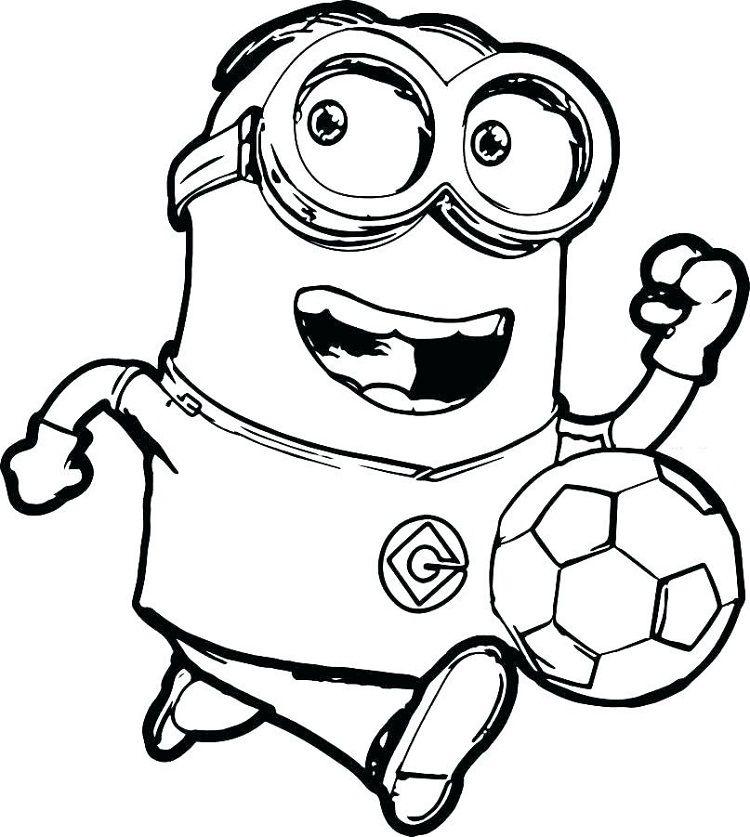 Minion Play Soccer Coloring Pages Boyama Sayfalari Boyama Kitaplari