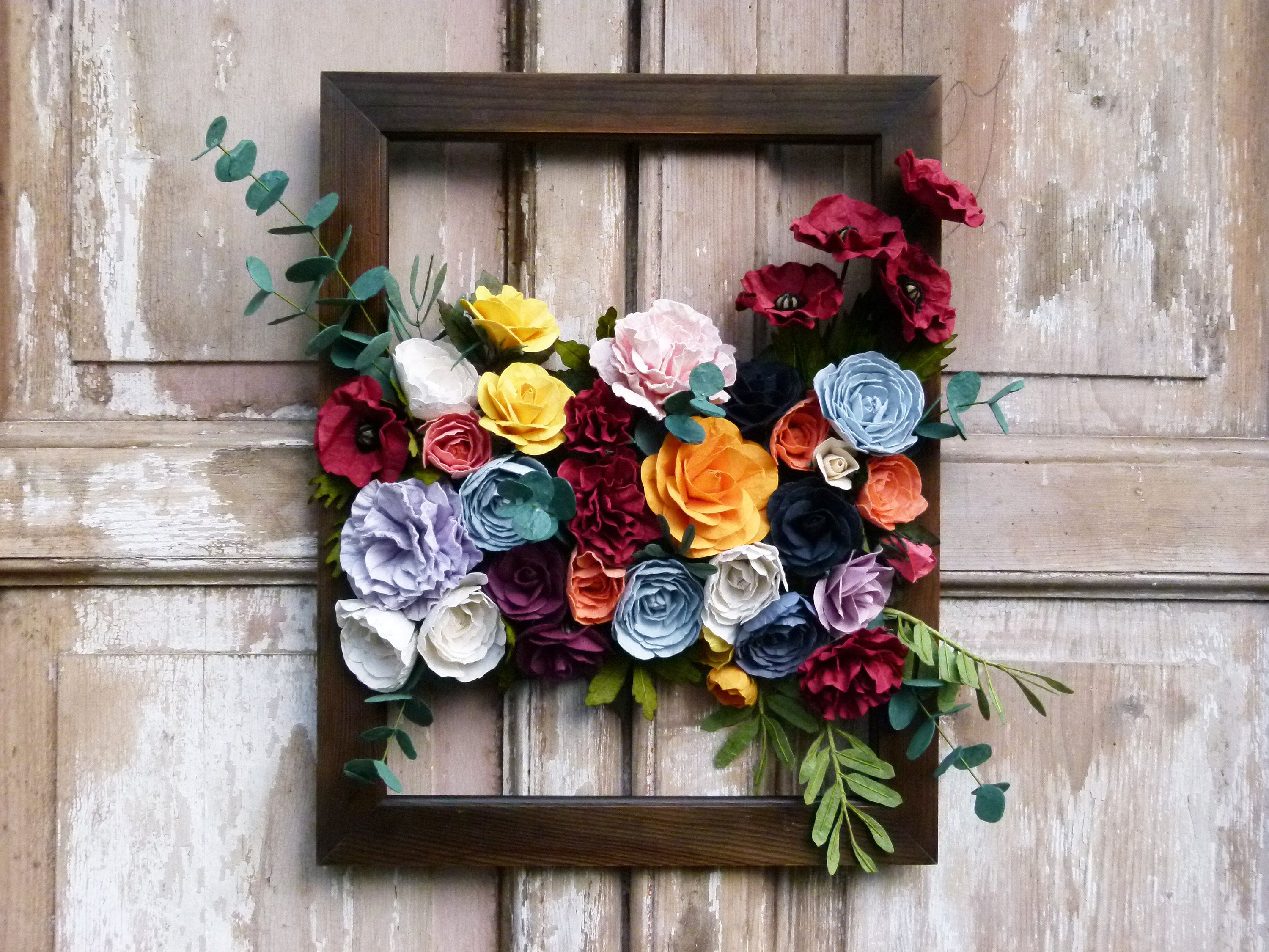 Paper Flower Wall Hanging Large Floral Wall Hanging Flower Wall