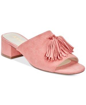 1717d5292538 Anne Klein Salome Block-Heel Tassel Mule Sandals - Pink 8.5M ...