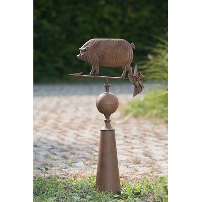 Best August Grove Pig Weathervane Weather Vanes Vintage Metal 400 x 300