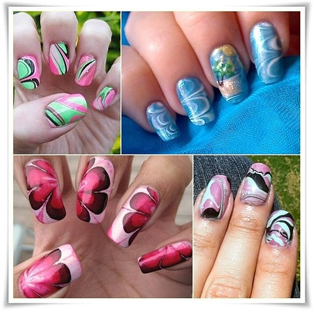 Marble Nail Design Nails Pinterest Marble Nails Water Marble