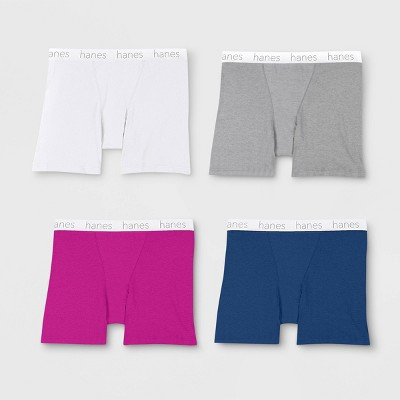 797f6bd31342 Hanes Premium Women's 4pk Cotton Long Leg with Comfortsoft Waistband Boxer  Briefs - Color May Vary