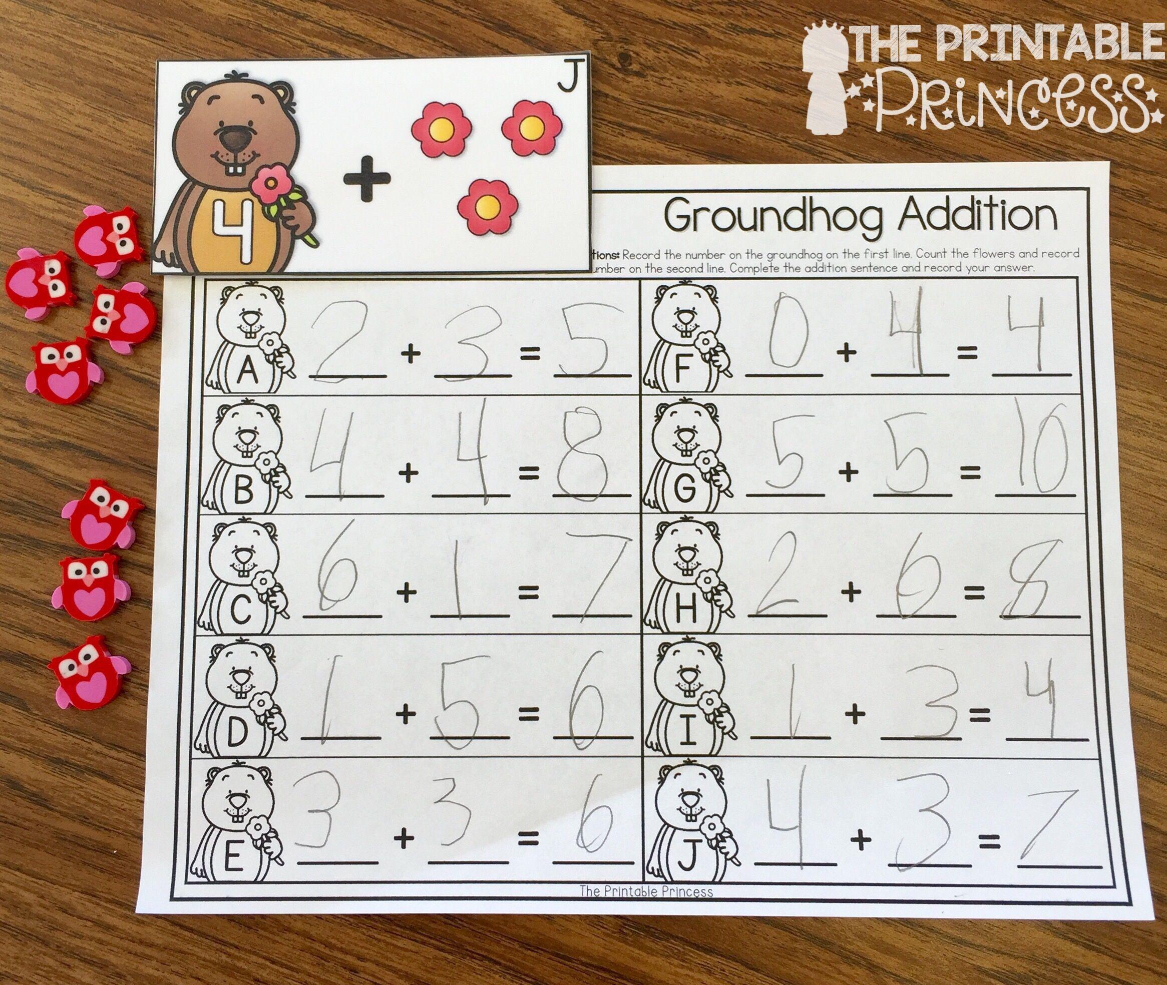 Kindergarten Groundhog Day Activities And Centers Math