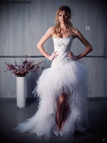Sexy Charming Bridal Gowns Wedding Dresses Prom Evening Dress Hi Lo White Lvory | eBay