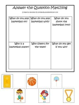 Basketball Sports Themed Answer The Question Preschool Educational Learning Game This Or That Questions Educational Games For Preschoolers Preschool