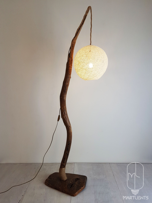 Driftwood Floor Lamp For The Living Room Standing Lamp