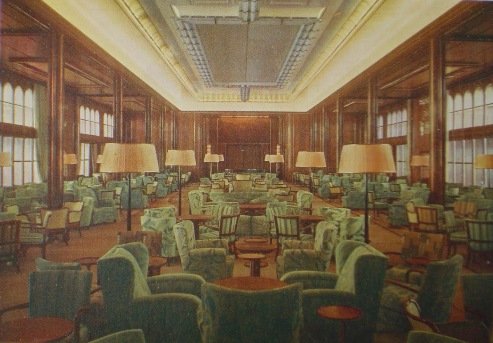 Pool Bremen First Class Main Lounge Aboard The Liner Bremen C1929