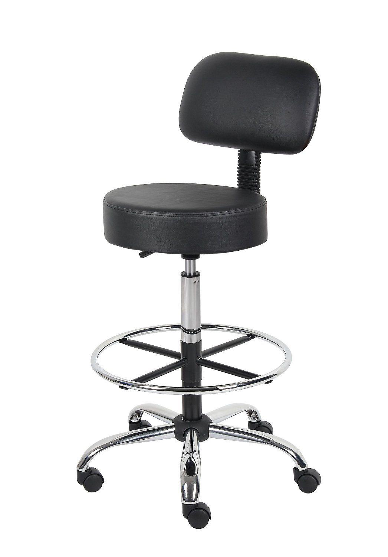 Amazon.com: Boss B16245-BK Caressoft Medical/Drafting Stool with Back Cushion: Kitchen & Dining