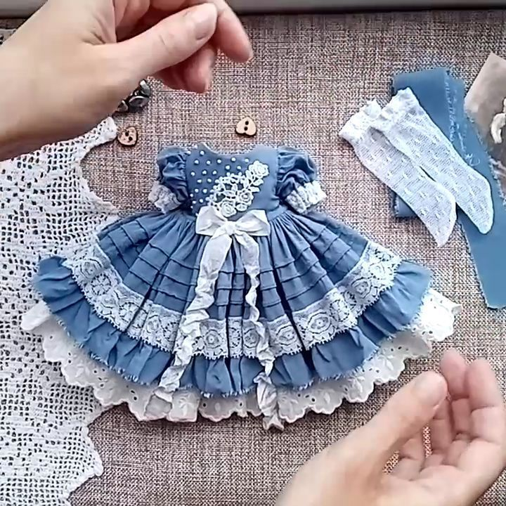 "Clothes for dolls ️�� on Instagram: ""Dress for Little Darling (Effner) dolls!!!....sold out Платье для кукол Литтл Дарлинг, Паола Рейна ... ПРОДАНО **************…"""