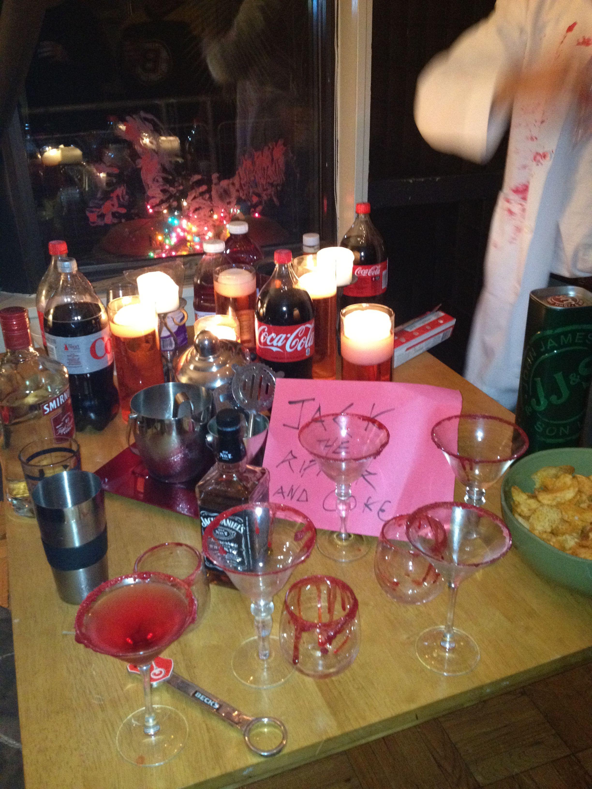 Celebrate Halloween!! Serial killer Halloween party bar. Jack-the ...