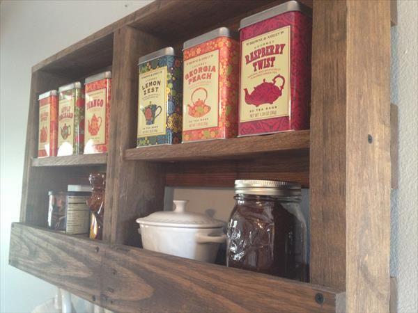 Diy Chá Cozinha Pallet E Rack De Café