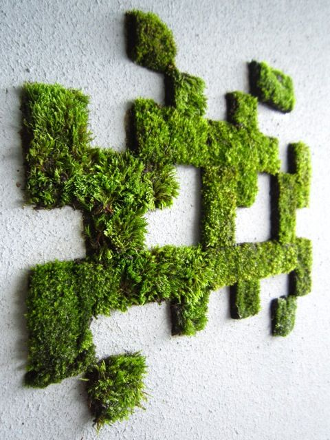 How To Make Moss Graffiti Moss Graffiti Moss Wall Art Moss Art