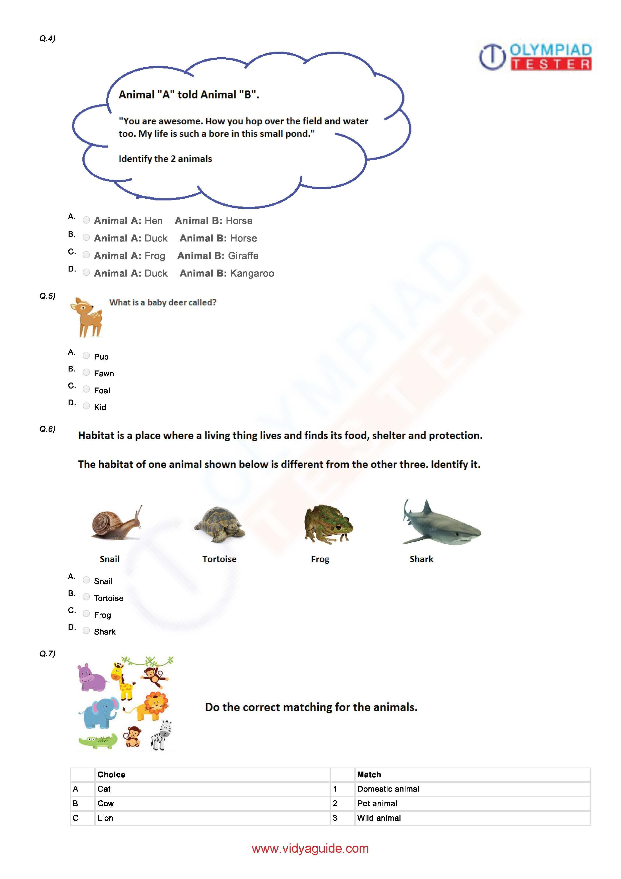 Download Grade 1 Science Printable Worksheets Or Take