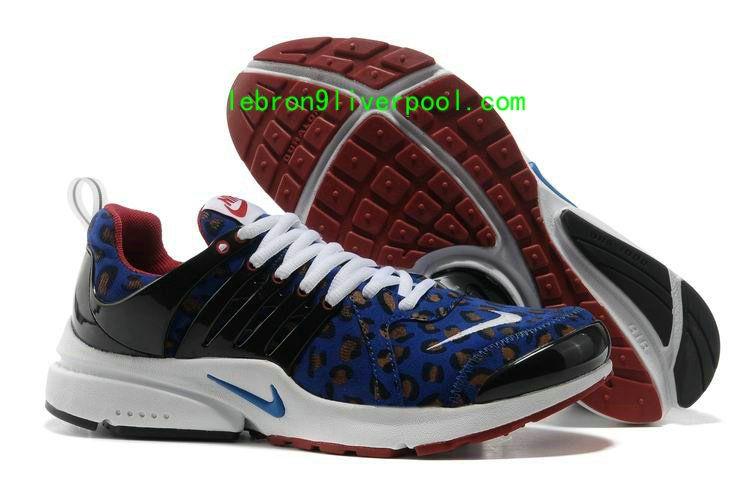 2013 Nike Air Presto Shoes Leopard Black Old Royal Burgundy