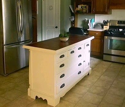 Upcycled Awesome Kitchen Islands Made From Old Dressers Dresser Kitchen Island Kitchen Island Made From Dresser Furniture Makeover