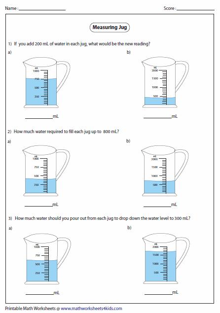 jug addition and subtraction pinterest math worksheets and measurement worksheets. Black Bedroom Furniture Sets. Home Design Ideas