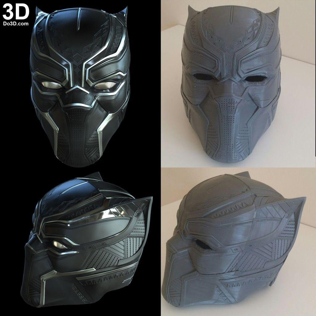 3d Printable Model Black Panther Helmet V2 8 Civil War