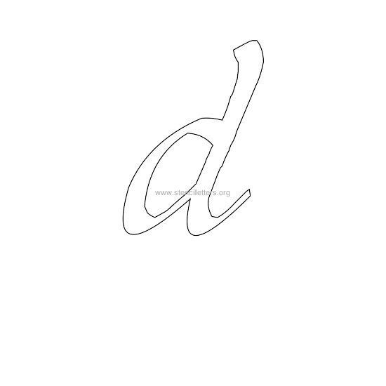 lowercase calligraphy wall stencil letter d | Letter ...