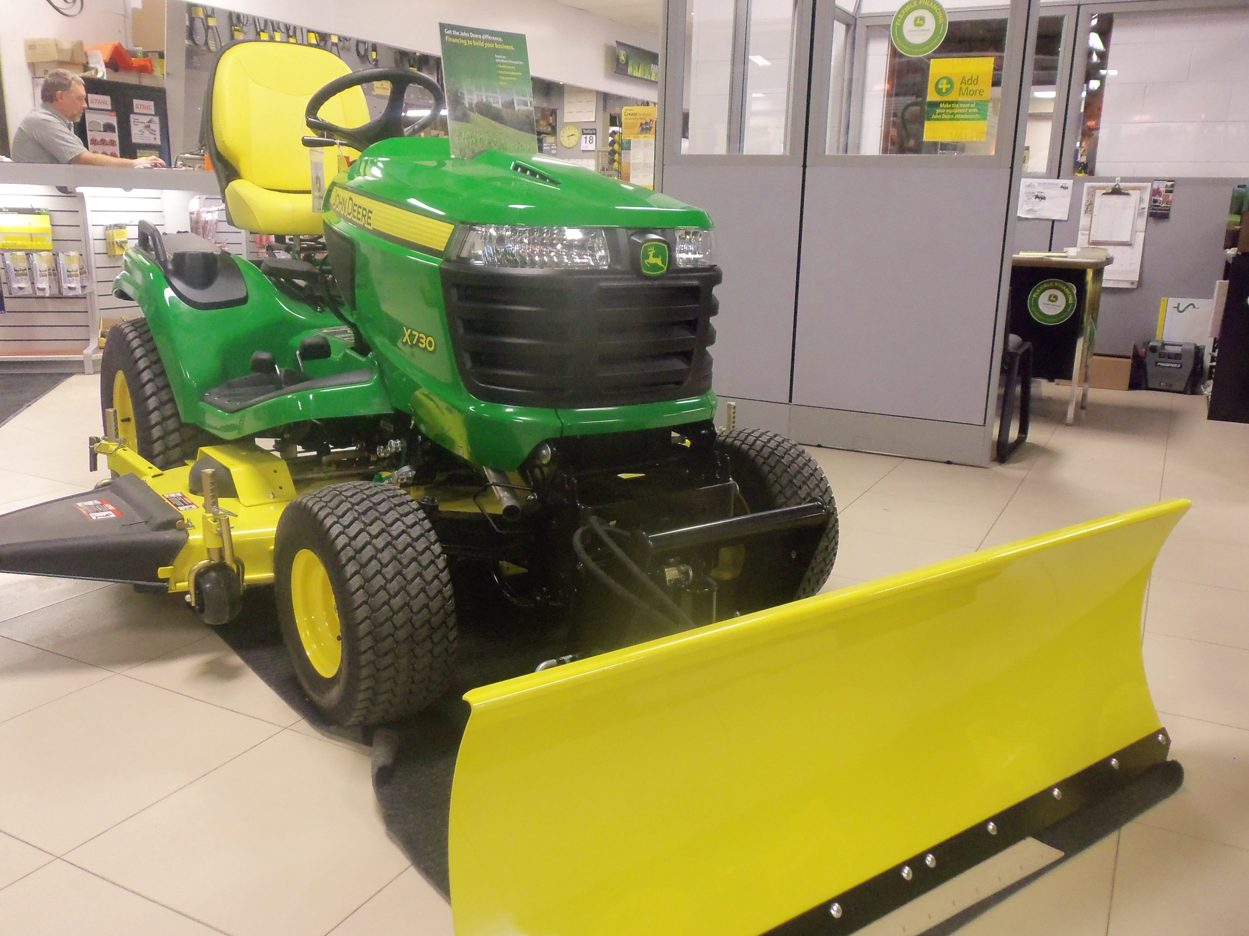 John Deere X730 equipped with 54 snow blade | Tri Green