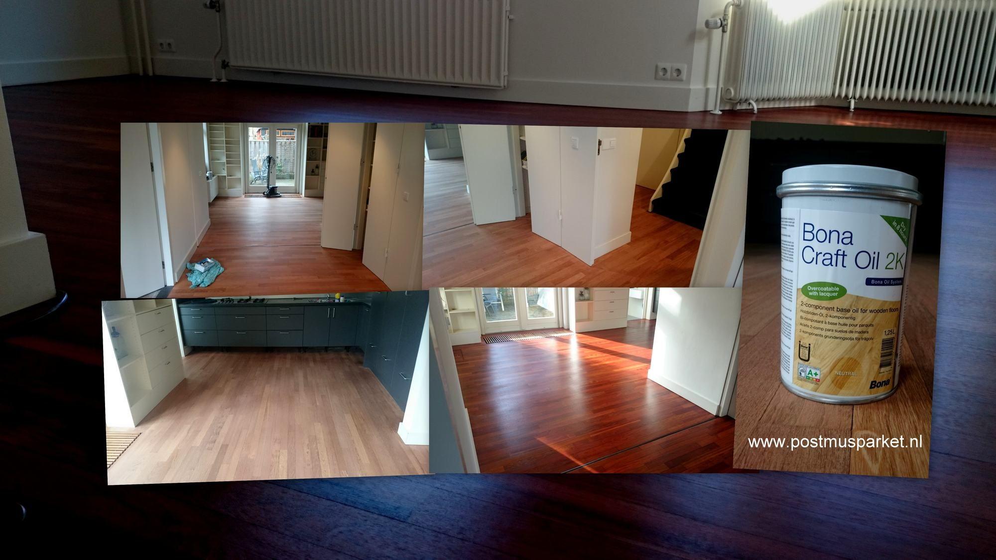 Jatoba houten vloer afgewerkt met bona craftolie houten vloeren