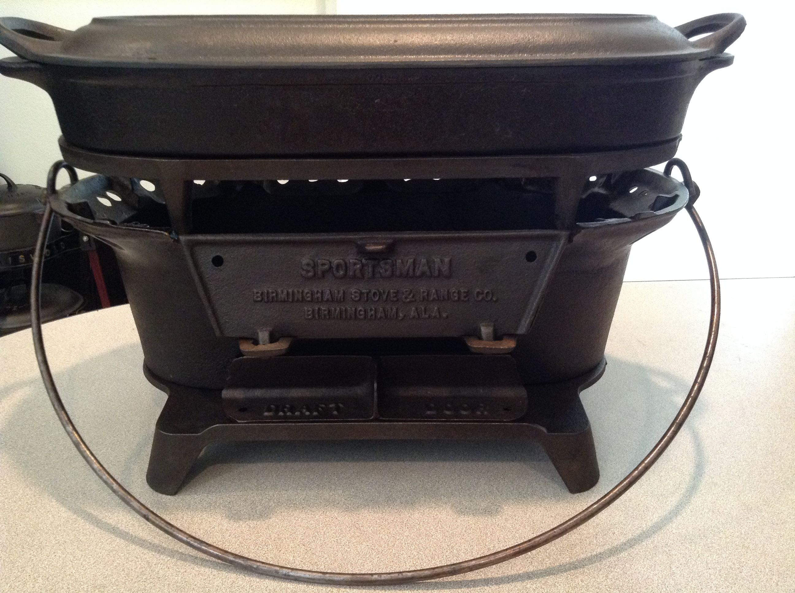 Co color cast cookware - Birmingham Stove And Range Sportsman Cooker With Griddle Lid