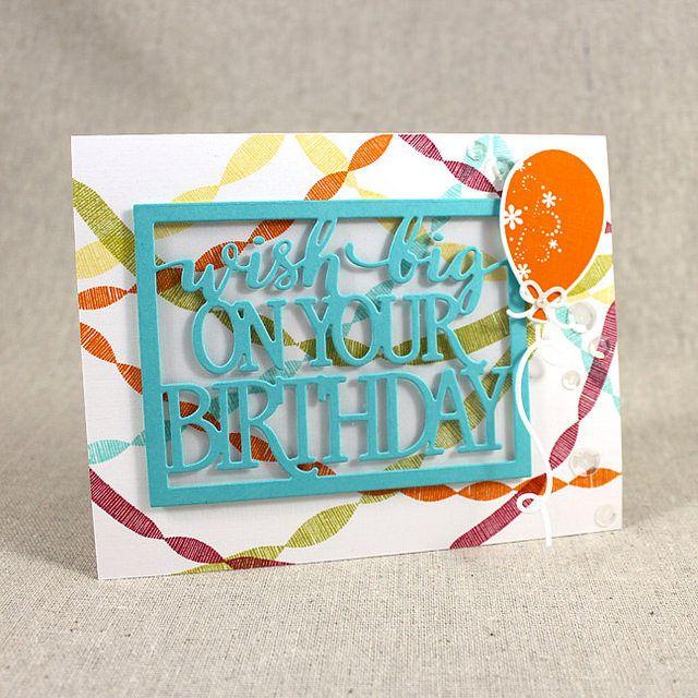Wish Big Card By Lizzie Jones For Papertrey Ink June 2015 Pti
