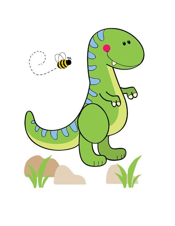 Dinosaur Mural T-Rex Wall Art Decals Baby Boys Nursery Dino Stickers ...