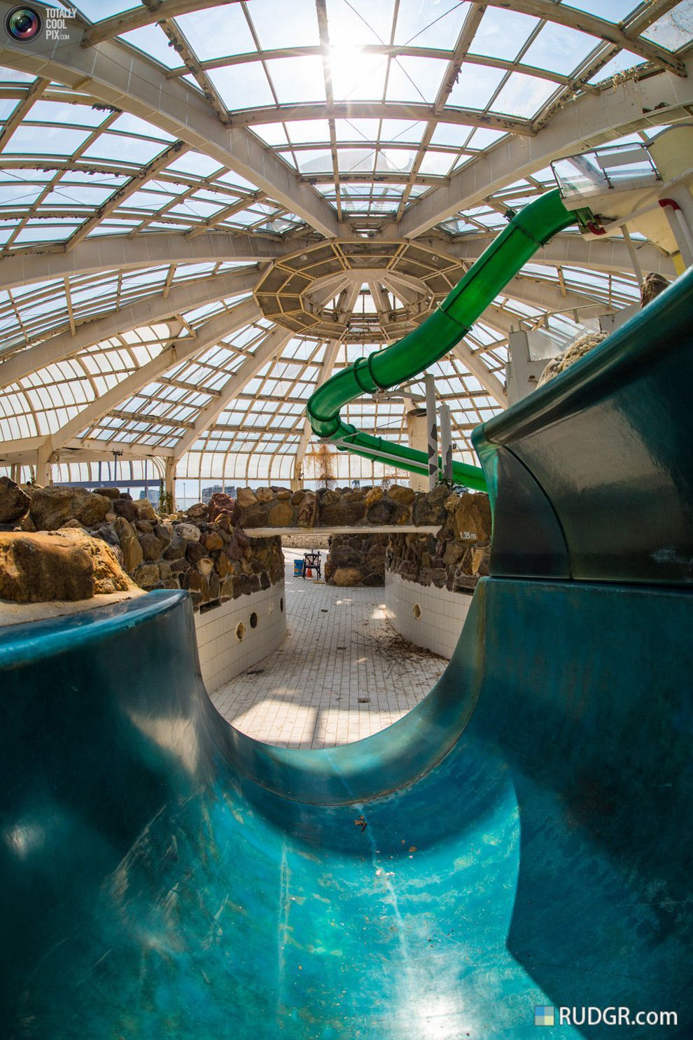 Abandoned Tropical Indoor Swimming Pool Tropicana