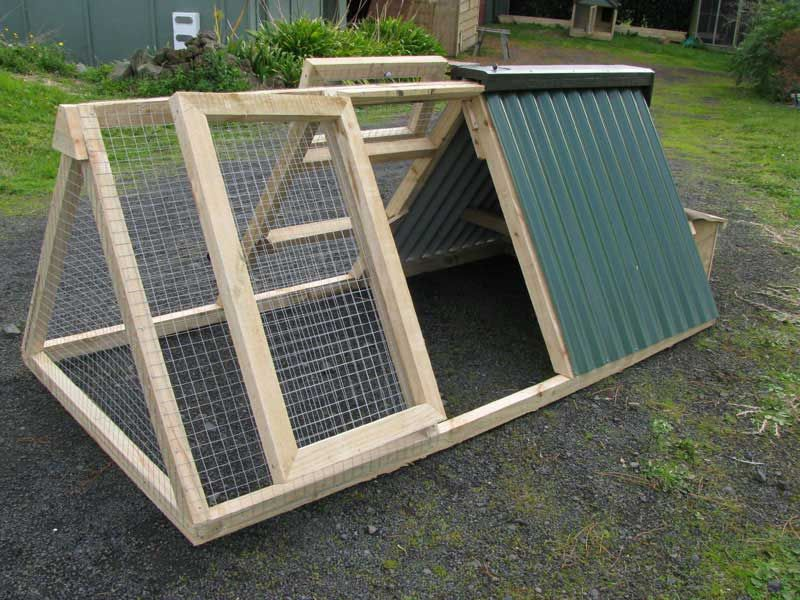 A frame chicken coop i like this design note no plans for Diy portable chicken coop