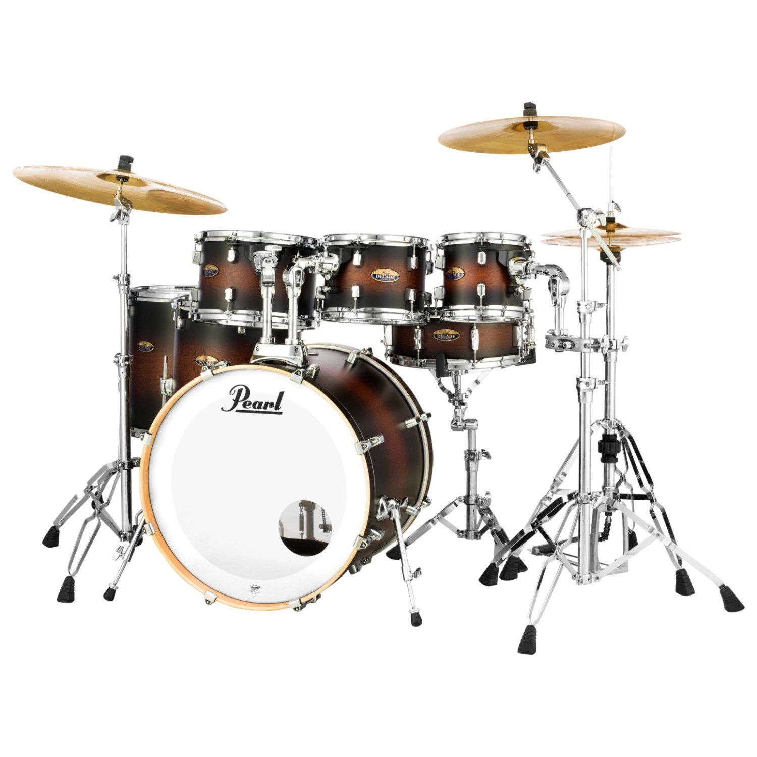 Pearl Dmp927sp C Decade Maple 7 Pc Drum Shell Pack Satin Brown