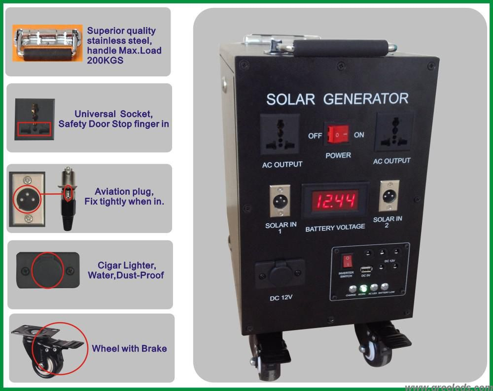 Sp 200w100a China High Efficiency 200w Portable Solar Generator For Home Use Manufacturer Supplier Solar Generator Portable Solar Generator Generator House