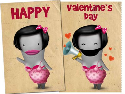 Happy Valentine's day, download a nice card to send it to your love.   Dark glumperina card
