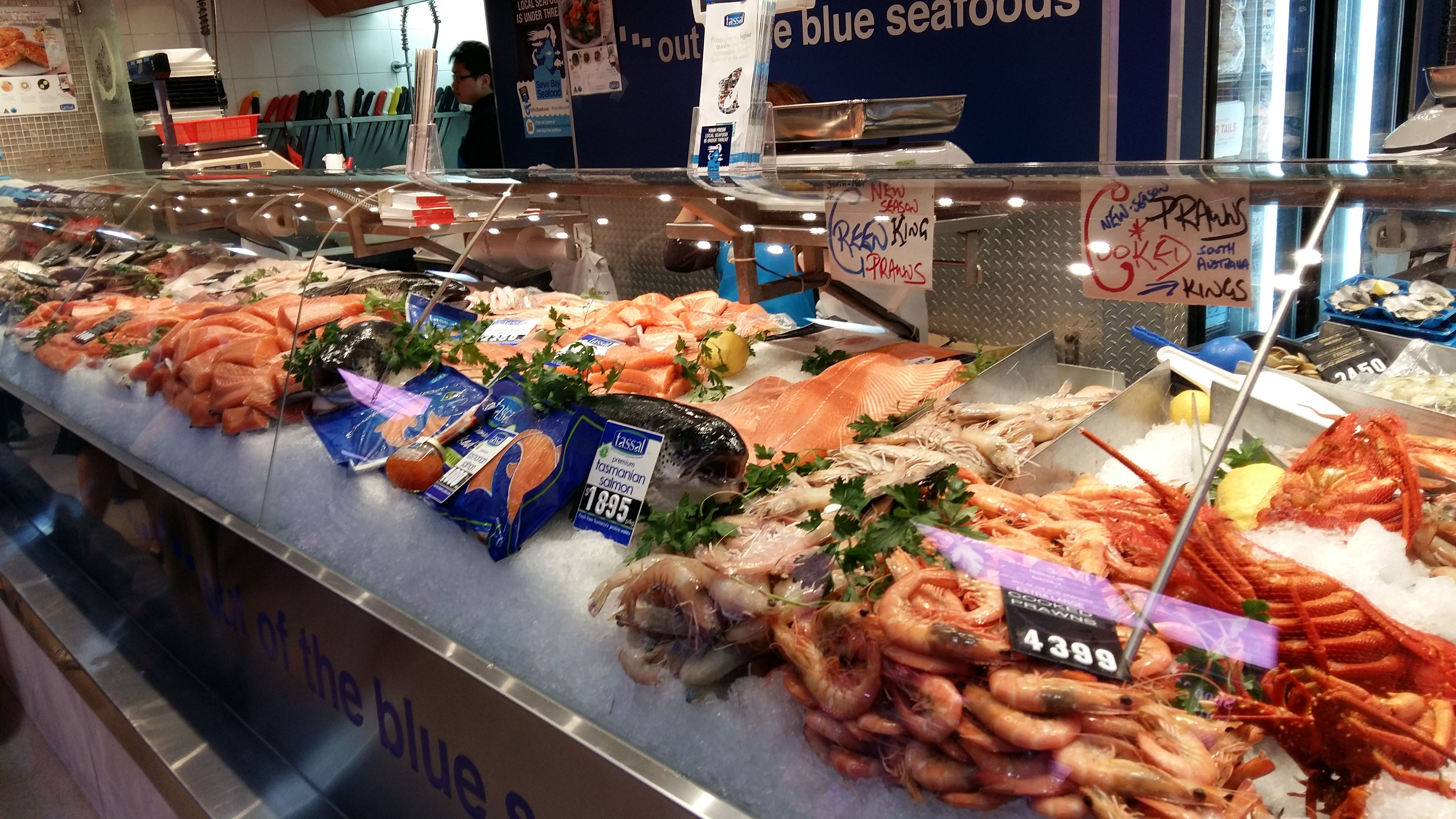 Seafood Stall At Victoria Market Melbourne Seafood Food My Favorite Things