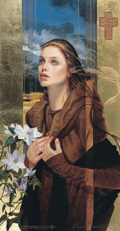Be Still My Heart Giclee With Kt Gold Leaf By Manuel Nunez - Hyper realistic paintings nunez