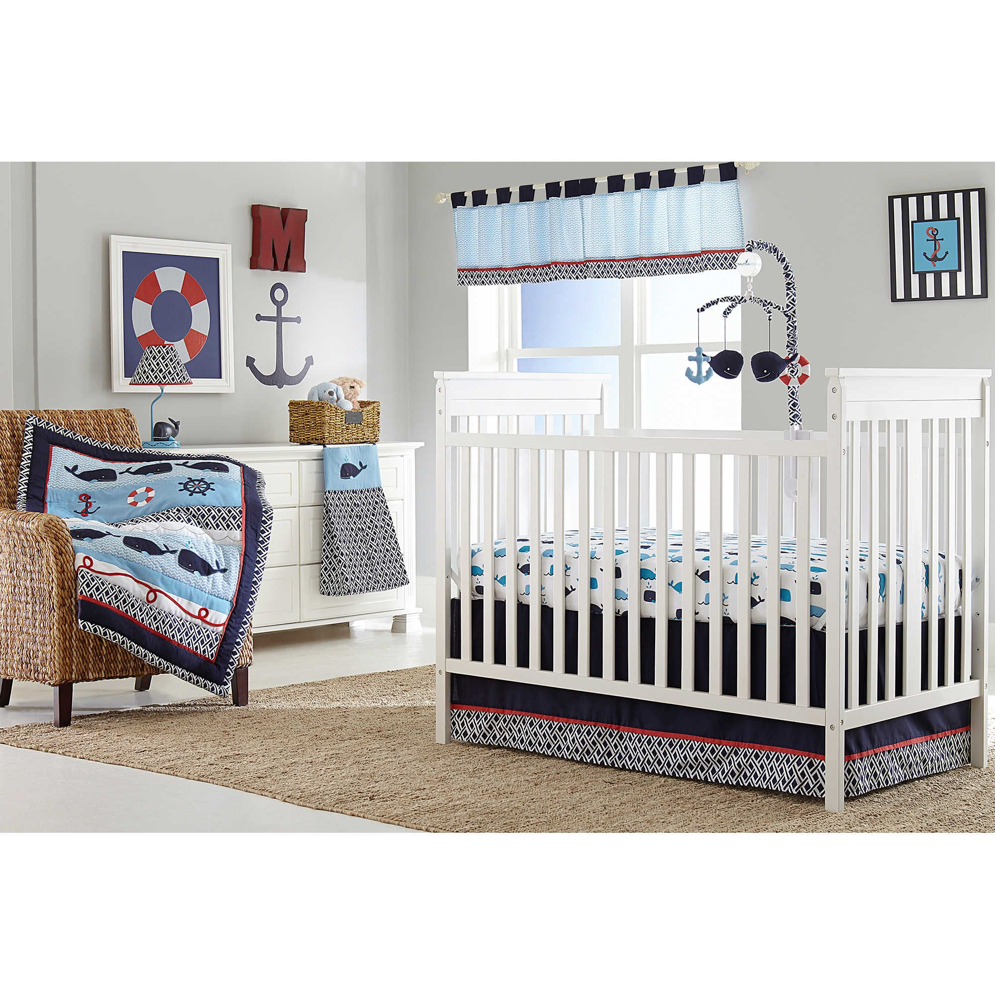 Nautica crib bedding whale - Nautica Kids Whale Of A Tale Crib Bedding Collection Www Buybuybaby Com