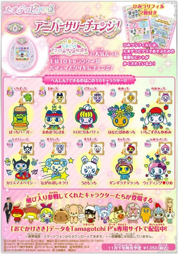 Image Result For Tamagotchi Ps New Anniversary Pierce Growth Chart