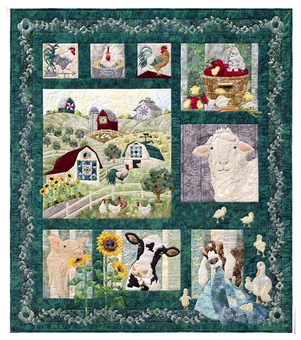 And On That Farm Complete Applique Pattern Set Farm Quilt Farm Quilt Patterns Animal Quilts