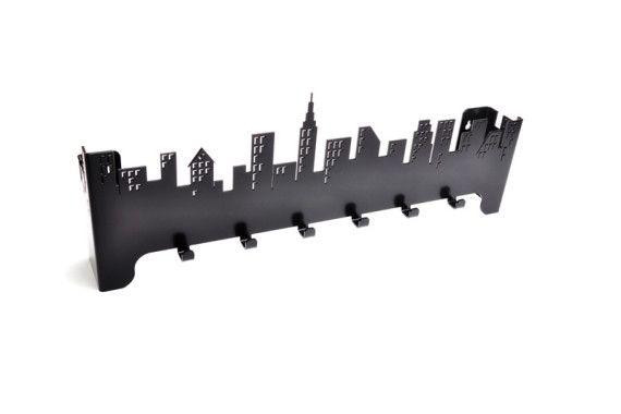 Wieszak Do Przedpokoju City Czarny Wieszaki Do Przedpokoju Nowoczesny Design Keychain Design Steel Design Design