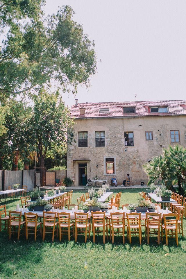 backyard wedding reception in Greece