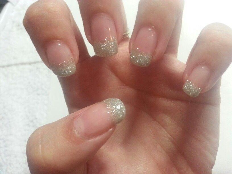 Glitter Tips Gellux Gel Nails