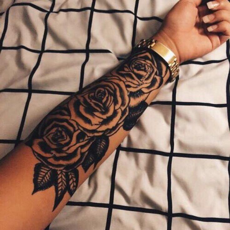 f45b26c0b Black Rose Tattoos On Left Forearm | tattoo ideas | Rose tattoos ...