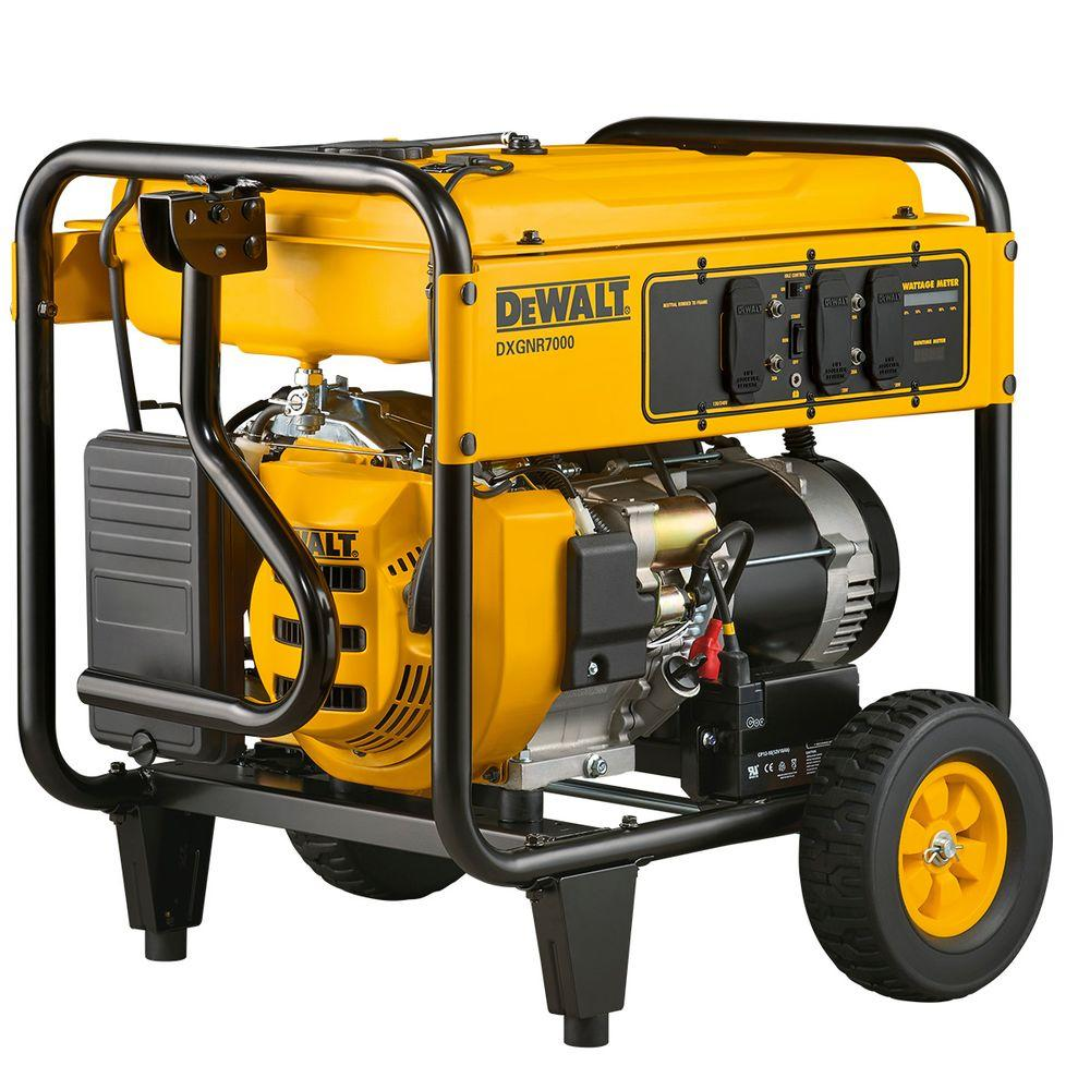 7,000-Watt Gasoline Powered Electric Start Portable Generator ...