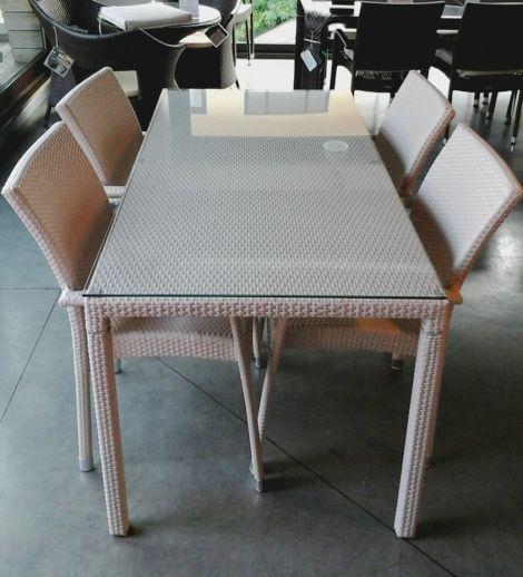 Tavoli Per Esterno Emu.Emu Tavolo Delta 160 X 80 Con 4 Poltrone Alfa Tavolo E Sedie