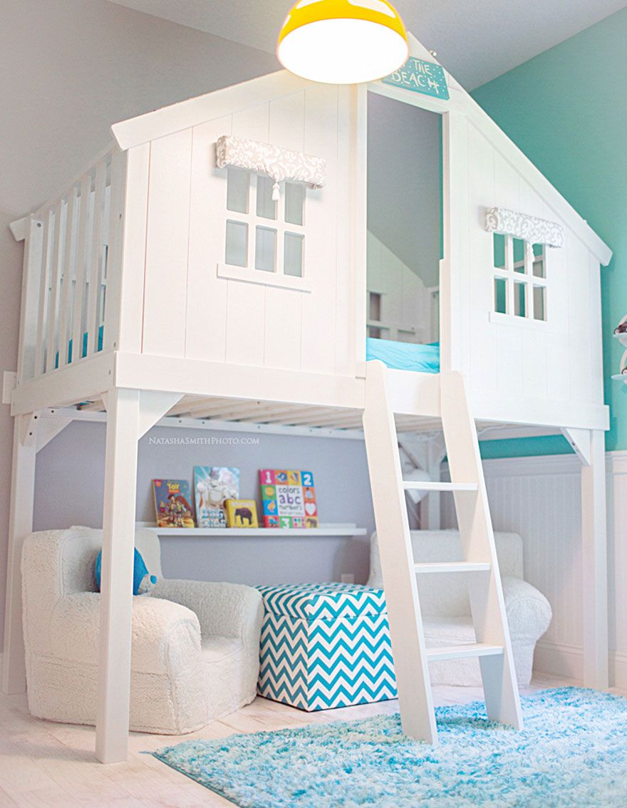 An IKEA mydal bunk bed hack transformed to a childrens