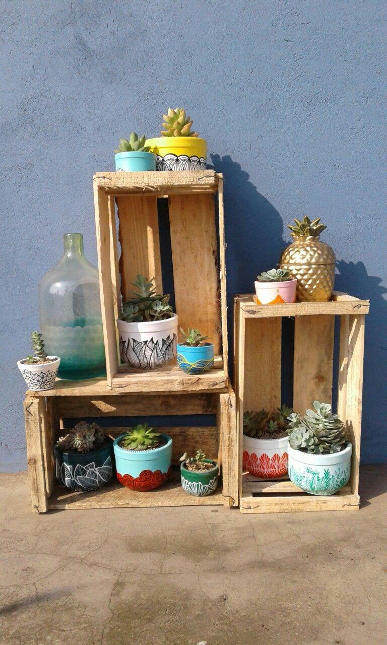 Succulents deco vase