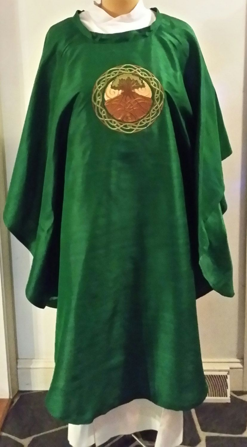 Chasuble for Pastors and Priests, Celtic Tree of Life, Any color or ...