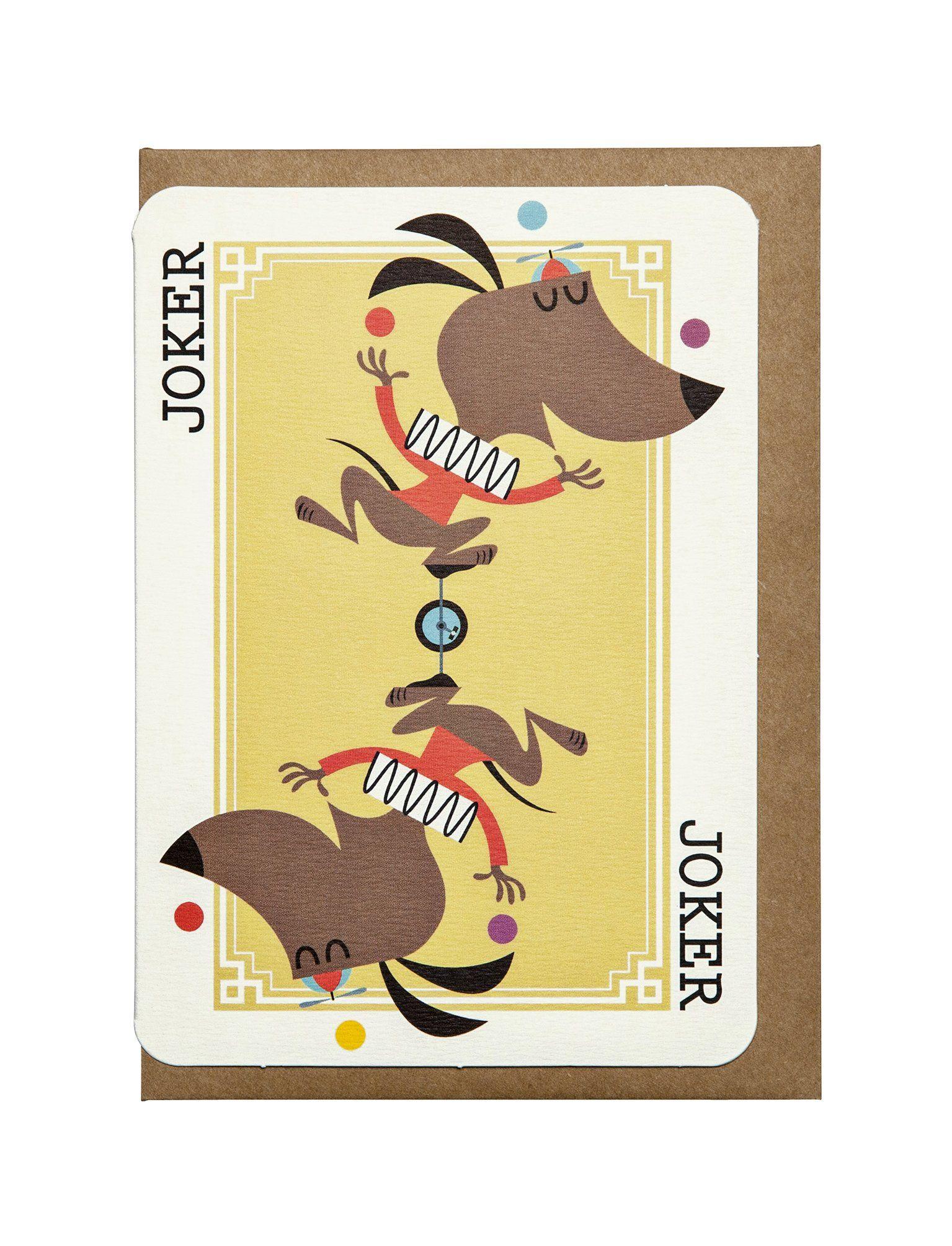 Joker A6 Greeting Card Cards Greeting Cards Kraft Envelopes