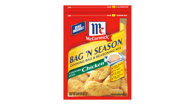 Mccormick Bag N Season Country Style En Is The Easy Way To Make That Tender Savory And Saucy