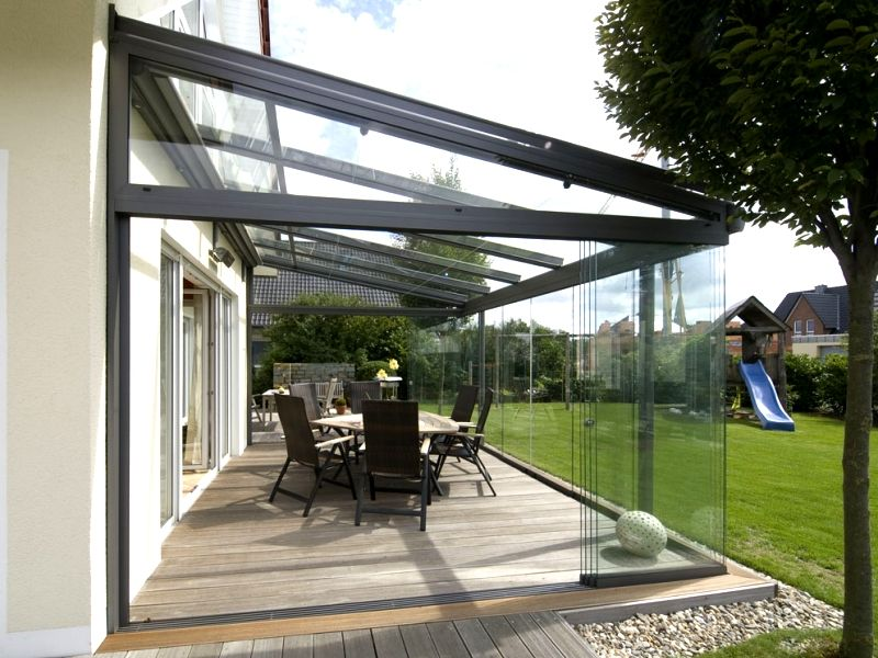 Available with folding glass sections, lighting, heaters and more from  Samson Awnings & Terrace Covers
