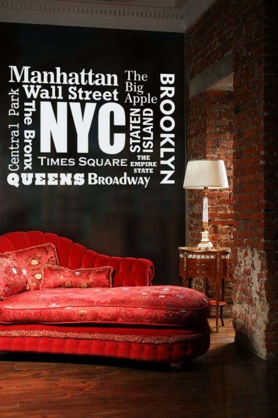 Wall Decal Words New York Famous Places By WallStarGraphics, $60.00